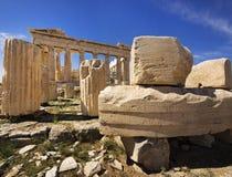 athens greece parthenontempel Arkivfoton