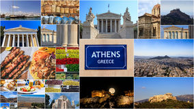 Athens - Greece photos collage royalty free stock images