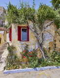 Athens Greece, picturesque house at Anafiotika, an old neighborhood under acropolis Stock Image