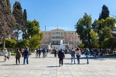 11.03.2018 Athens, Greece - The Presidential Mansion, the official residence of the President of the Hellenic Republic. Designed. By Ernst Ziller royalty free stock photos