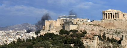 Athens Greece Riots  Stock Photo