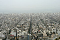 Athens, Greece - Sahara dust covers the city Royalty Free Stock Image