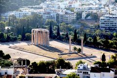Temple of Zeus in Athens royalty free stock photo