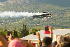 Athens, Greece 13 September 2015. Audience watching Melissa's Pemberton flight show at the Athens air week flying show. Stock Image