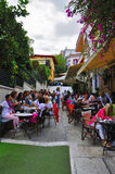 Athens. Greece september 25,2016  bars full of tourists taking a break in the islet center Stock Images