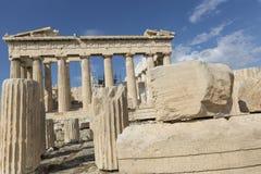ATHENS - GREECE - SEPTEMBER 21,2016 : Parthenon temple on the Ac Royalty Free Stock Photo