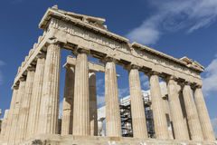 ATHENS - GREECE - SEPTEMBER 21,2016 : Parthenon temple on the Ac Royalty Free Stock Photography