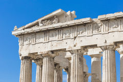ATHENS - GREECE - SEPTEMBER 21,2016 : Parthenon temple on the Ac Royalty Free Stock Image