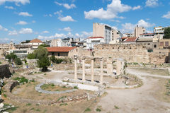 Athens, Greece 13 September 2015. Roman ancient market in Athens ready to welcome tourists and local people. Royalty Free Stock Photos