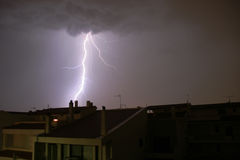 Athens, Greece, Thunder and lightning Royalty Free Stock Image