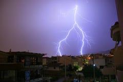 Athens, Greece, Thunder and lightning royalty free stock photo