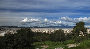 Athens greece view from acropolis, Royalty Free Stock Images