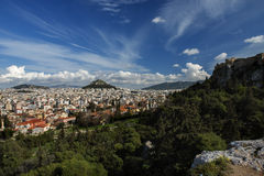 Athens greece view from acropolis Royalty Free Stock Photography