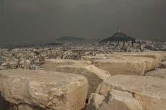 ATHENS/GREECE- View over Athens from Acropolis Stock Photography