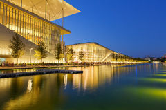Athens, Greece. View of Stavros Niarchos Foundation Cultural Center in city of Athens stock image