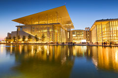 Athens, Greece. View of Stavros Niarchos Foundation Cultural Center in city of Athens stock photography