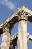 Athens - Greek corinthian capitals Royalty Free Stock Photo