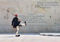 athens grekisk guard Arkivbild