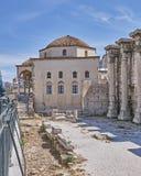 Athens, Hadrian's library and the Tsisdaraki mosque Royalty Free Stock Image