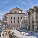 Athens, Hadrian's library and the Tsisdaraki mosque Royalty Free Stock Images