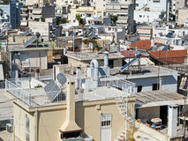 Athens, High Density Housing. View of Athens high density apartment buildings, Greece royalty free stock images