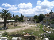Athens, history excavations. Athens history excavations, greece Royalty Free Stock Image