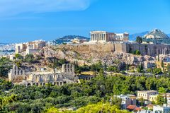 Free Athens In Summer, Greece. Panorama Of Acropolis Hill Royalty Free Stock Photo - 160400205