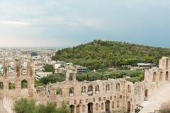athens landmarks arkivfoton