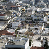 Athens landscape. Houses in Athens, autumn, Greece Royalty Free Stock Image