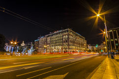 Athens lights stock photography