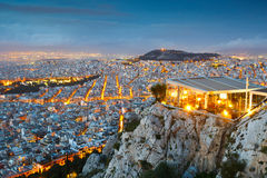 Athens from Lycabettus Hill. Royalty Free Stock Photos