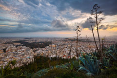 Athens from Lycabettus Hill. Royalty Free Stock Images