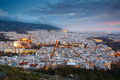 Athens from Lycabettus Hill. Stock Photos