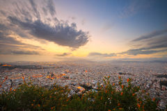 Athens from Lycabettus Hill. Stock Photo