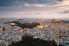 Athens from Lycabettus Hill. Stock Images