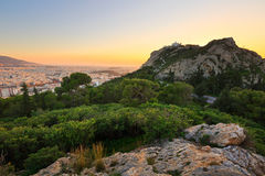 Athens from Lycabettus Hill. Royalty Free Stock Photography