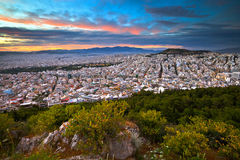 Athens from Lycabettus Hill. Stock Image