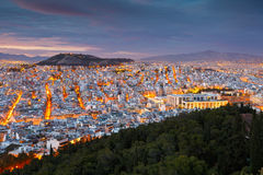 Athens from Lycabettus Hill. Royalty Free Stock Photo