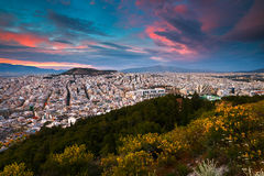 Athens from Lycabettus Hill. Royalty Free Stock Image