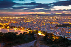Athens from Lycabettus Hill. Stock Photography