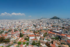 Athens and Lykavitos Hill from Acropolis, Athens, Greece Royalty Free Stock Photography