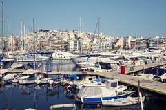 athens marina piraeus Royaltyfri Bild
