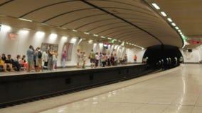 Athens metro stock video footage
