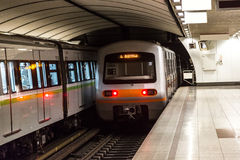 Athens metro station Stock Image