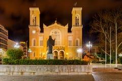 Athens. Metropolis Cathedral. Greek Orthodox cathedral Metropolis at night. Athens. Greece Stock Photography