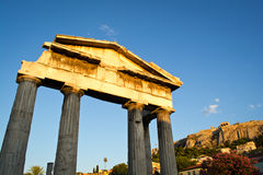 Athens monuments Stock Photos