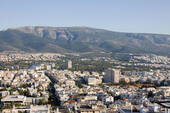 Athens and mount Hymettus Royalty Free Stock Images