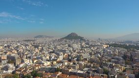 Athens with Mount Lycabettus stock video