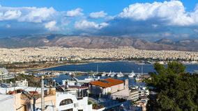 Athens with mountains in the background, Greece. Royalty Free Stock Images