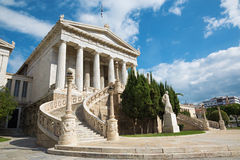 Athens - The National Library designed by the Danish architect Theophil Freiherr von Hansen Royalty Free Stock Image